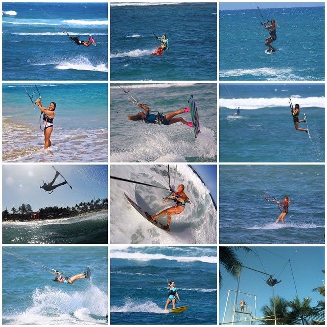 Kiteboarding on the north coast of the Dominican Republic